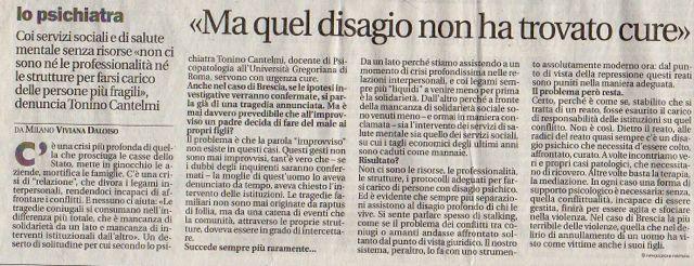 Tonino CAntelmi, rassegna stampa - Avvenire 2013
