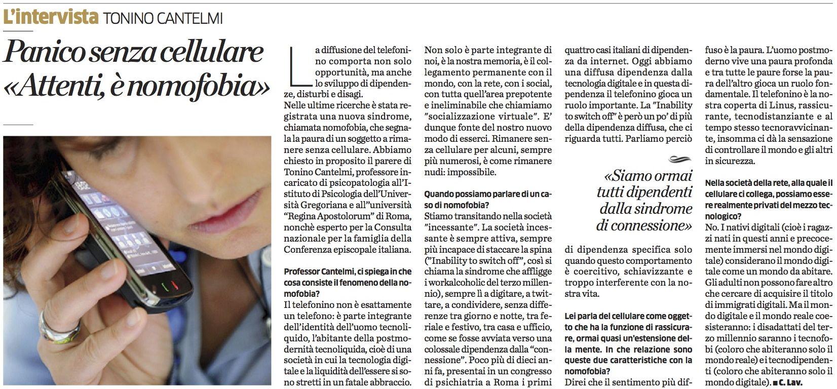 Tonino Cantelmi intervista cellulari