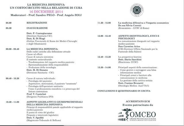 Convegni Tonino Cantelmi, medicina difensiva, psichiatra roma