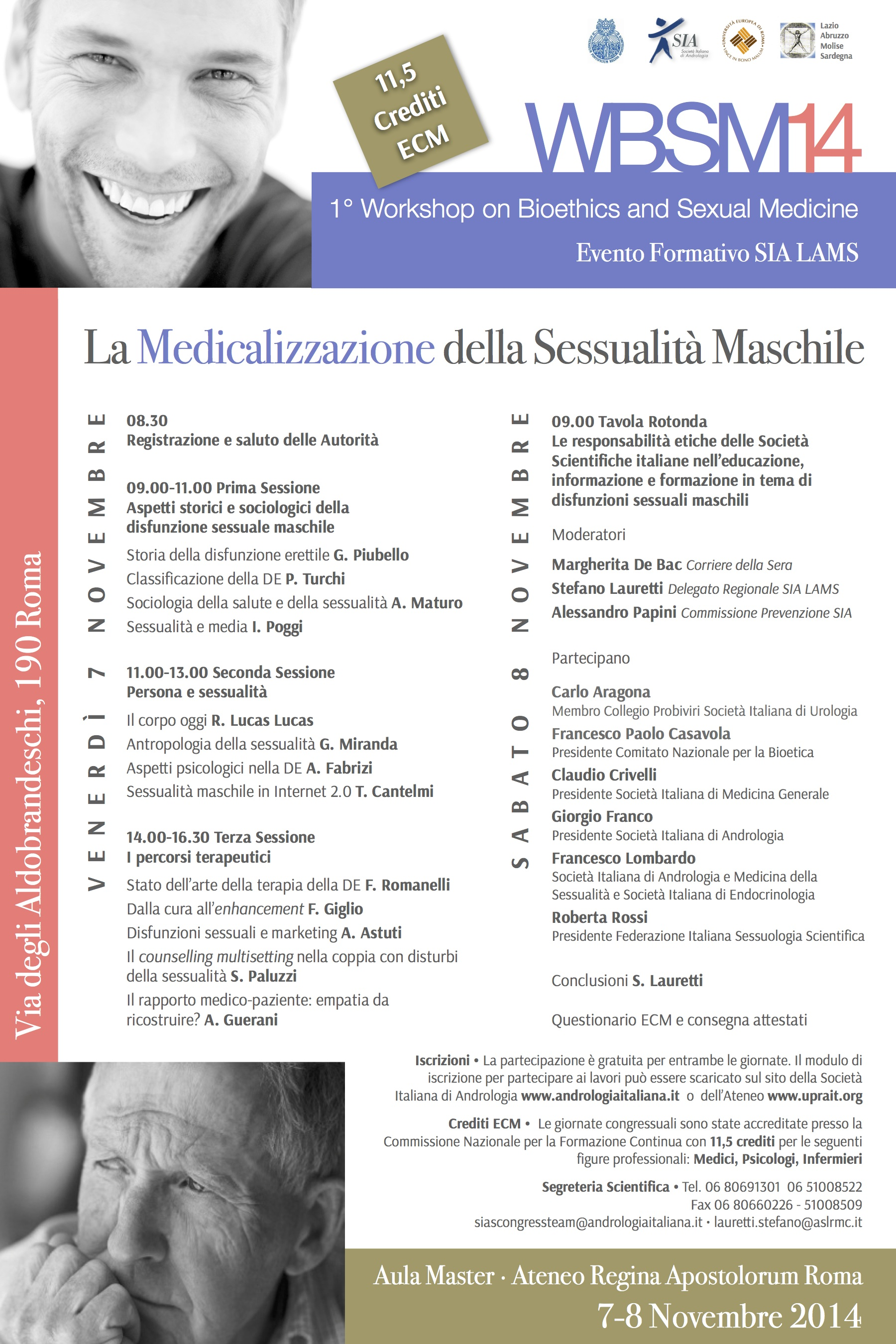 Tonino Cantelmi - 1° Workshop on Bioethics and Sexual Medicine - Convegno 2014