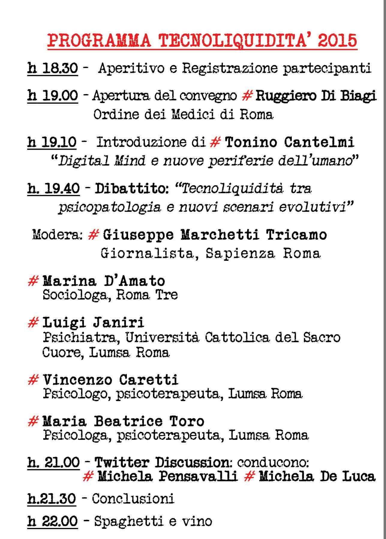 Tecnoliquidità 2015 - Tonino Cantelmi