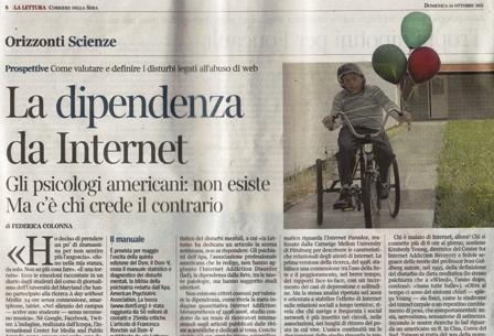 Tonino Cantelmi - dipendenza da internet - Corriere della Sera - la Lettura