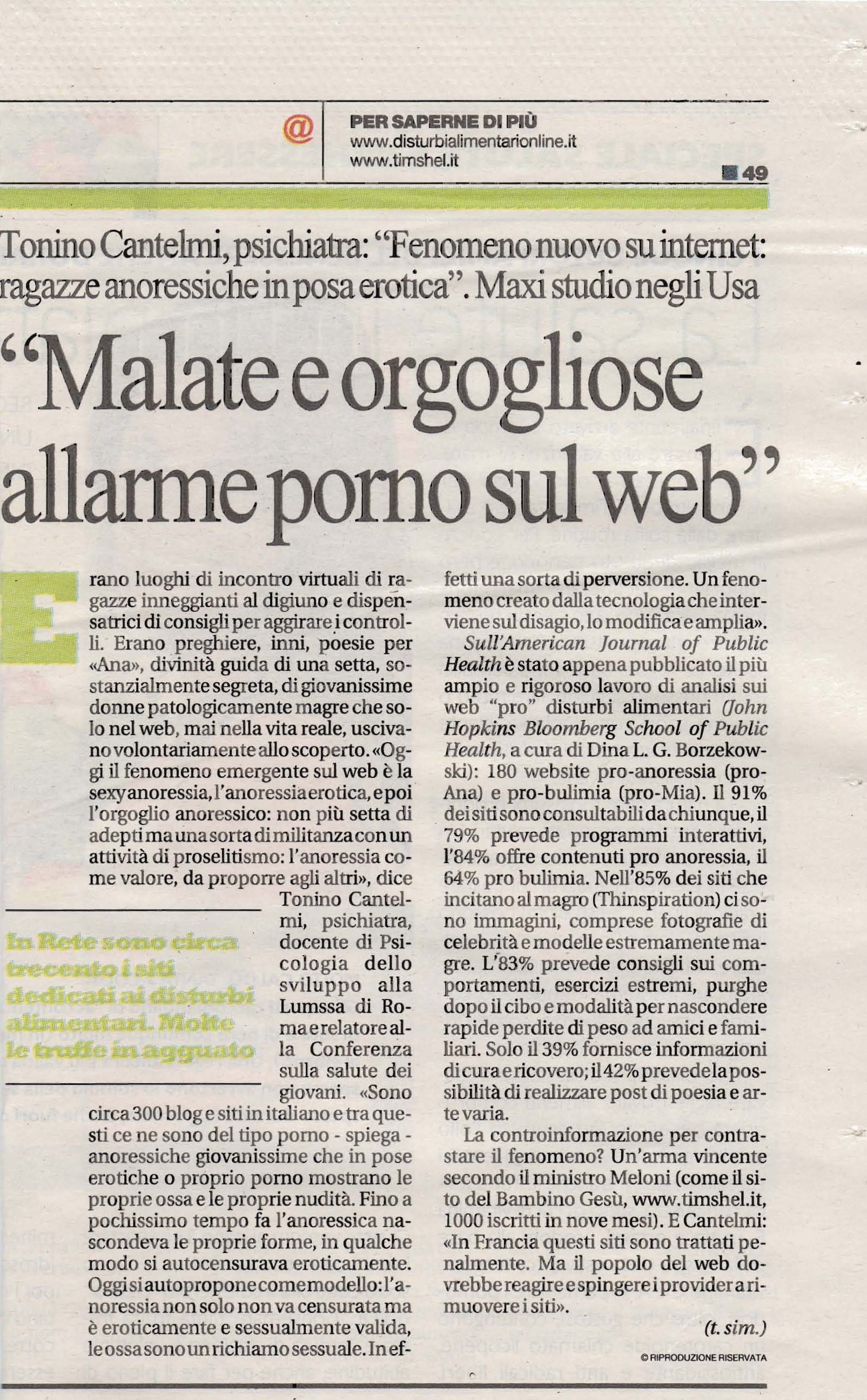 La Repubblica intervista di Tonino Cantelmi