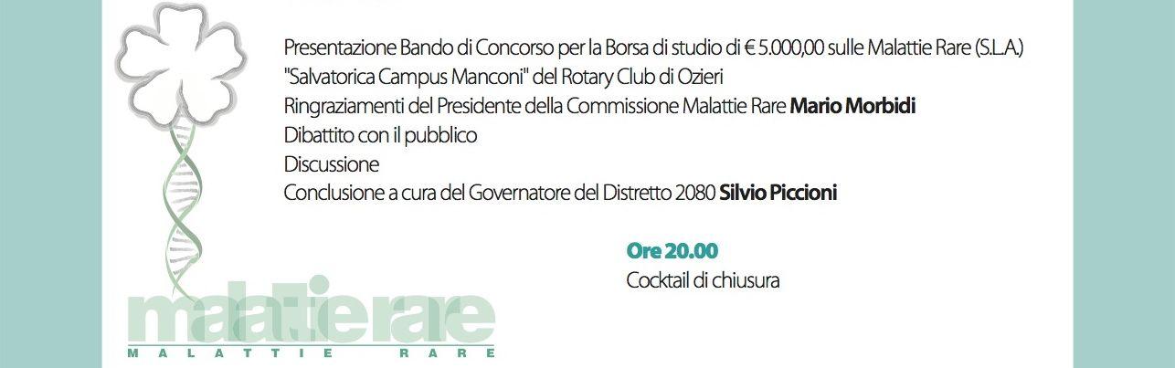 Tonino Cantelmio, malattie rare - Rotary 2013